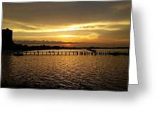 Dinning With Sunset  Greeting Card