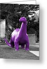 Dino Selective Coloring In Ultra Violet Purple Photography By Colleen Greeting Card