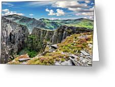 Dinorwic Slate Quarry Snowdon Greeting Card