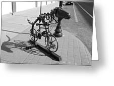 Dinosaur Biking Sculpture Grand Junction Co Greeting Card