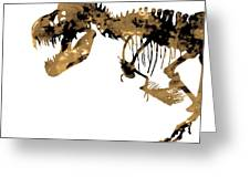 Dinosaur Sepia Print Greeting Card