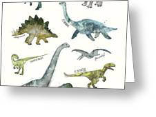 Dinosaurs Greeting Card by Amy Hamilton