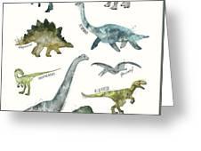 Dinosaurs Greeting Card by Amy Hamilton