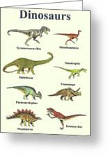Dinosaurs Montage - Portrait Greeting Card