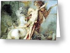 Diomedes Devoured By His Horses Watercolour Gustave Moreau Greeting Card