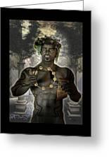Dionysus God Of Grape Greeting Card