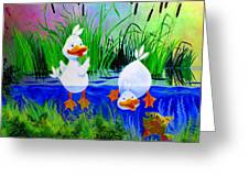 Dipping Duckies - Furry Forest Friends Mural Greeting Card