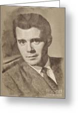 Dirk Bogarde, Vintage Actor By John Springfield Greeting Card