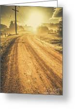 Dirt Road Sunrise Greeting Card