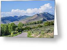 Dirt Road To Serenity Greeting Card