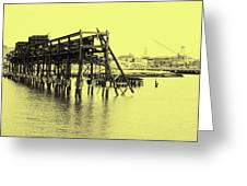 Disappearing Pier Greeting Card