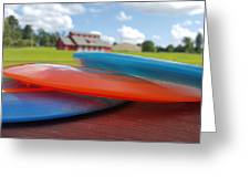 Disc Golf In Auburn Greeting Card