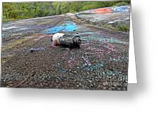 Discarded Spray Paint Can Greeting Card