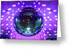 Disco Ball Purple Greeting Card