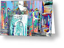 Disco Dock Seagull Greeting Card