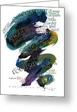 Discomfort Blue Greeting Card by Judy Dodds