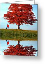 Discovering Autumn - Reflection Greeting Card