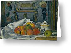 Dish Of Apples Greeting Card