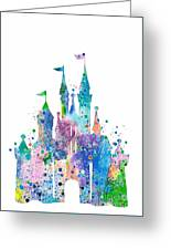 Disney Castle 2 Watercolor Print Greeting Card