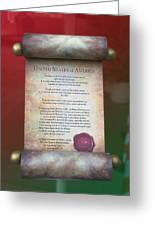 Disney World Christmas In The United States Scroll Greeting Card