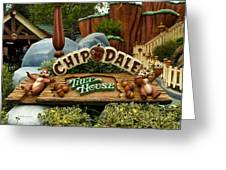 Disneyland Chip And Dale Signage Greeting Card