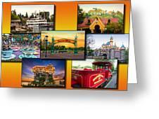 Disneyland Collage 02 Yellow Greeting Card