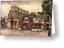 Disneyland Corner Cafe Pa Textured Greeting Card