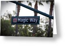Disneyland Magic Way Street Signage Greeting Card