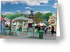 Disneyland Toontown Young Man Proposing To His Lady Panorama Greeting Card