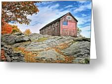 Display Of Colors - Roxbury Barn  Greeting Card by Thomas Schoeller