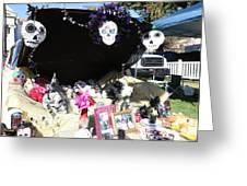 Display Trunk Car Day Dead  Greeting Card