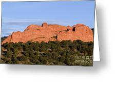 Distant Camels In The Garden Of The Gods Greeting Card