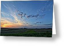 Distant Farm Greeting Card