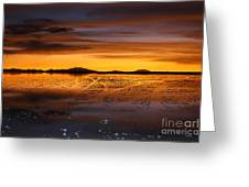 Distant Hills At Sunset Greeting Card