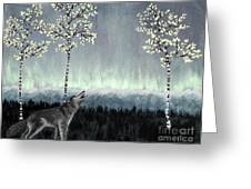 Distant Lights Greeting Card