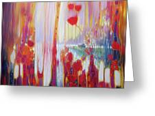 Distant Memory - A Semi Abstract Landscape Greeting Card