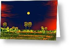 Distant Moon Desire Greeting Card