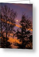 Distant Moon Greeting Card
