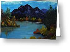 Distant Mountain View Greeting Card