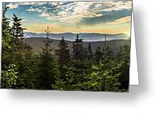 Distant Mountains To The East Greeting Card