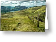 Distant Path Greeting Card by Nick Bywater
