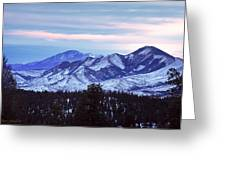 The Distant Peaks Of Pikes Greeting Card