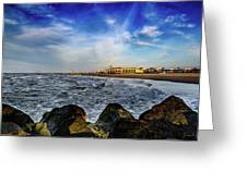 Distant Pier Greeting Card