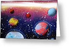 Distant Planets Greeting Card
