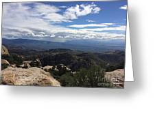 Distant Valley Greeting Card