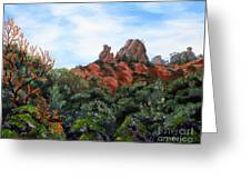 Distant View Of High Peaks Greeting Card
