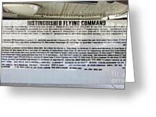 Distinguished Flying Command  Greeting Card