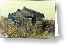 Distressed Honey House Door County Wisconsin Greeting Card