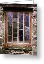 Disused Watermill Window Greeting Card
