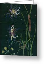 Ditchweed Fairy Cattails Greeting Card